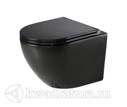 Унитаз подвесной безободковый Azario Grado 7970 сиденье микролифт черный