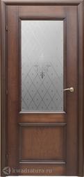 Межкомнатная дверь Краснодеревщик 3324 Кофе ДО Торшон