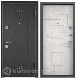 Дверь входная стальная Торэкс Delta 100 Черный шелк DL-2/ПВХ Бетон светлый D21