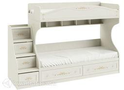 Кровать Лючия двухъярусная с летницей