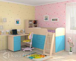 Кровать Дюймовочка 1 Голубая