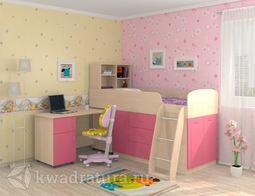Кровать Дюймовочка 1 Розовая