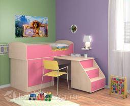 Кровать Дюймовочка 2 розовая