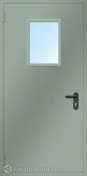 Дверь противопожарная со стеклом ДПМ EI60-01 Ral 7035