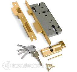 Механизм под ключ 1 плоский ригель Archi матовое золото