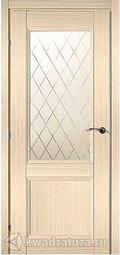 Межкомнатная дверь Краснодеревщик 3324 Дуб Выбеленный ДО Матовое