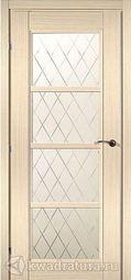 Межкомнатная дверь Краснодеревщик 3340 Дуб Выбеленный ДО Матовое