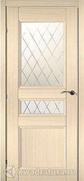 Межкомнатная дверь Краснодеревщик 3344 Дуб Выбеленный ДО Матовое