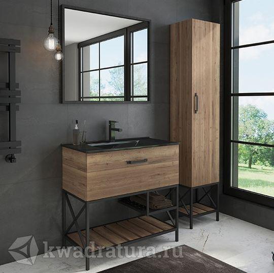 Мебель для ванной Comforty Бредфорд 90 см Дуб темный