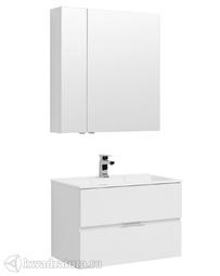 Комплект мебели для ванной Aquanet Алвита 80 белый