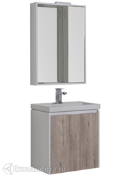 Комплект мебели для ванной Aquanet Клио 60 дуб кантри/белый