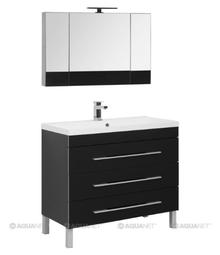 Комплект мебели для ванной Aquanet Верона 100 черный