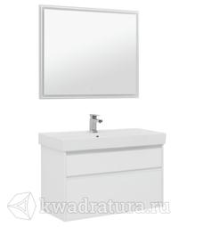 Комплект мебели для ванной Aquanet Nova Lite 100 белый