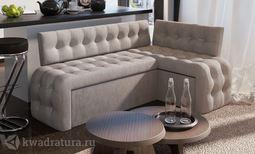 Кухонный уголок Манчестер скамья-диван угловая со спальным местом серый
