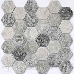 Мозаика керамограничная Bonaparte Olmeto grey 28,2х27,1