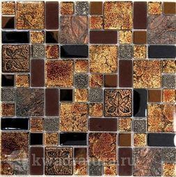 Мозаика стеклянная c камнем Bonaparte liberty 30х30