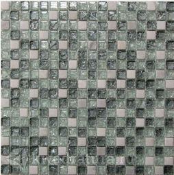 Мозаика стеклянная c камнем Bonaparte Glass stone-11 30х30