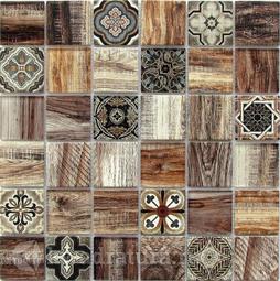 Мозаика стеклянная Bonaparte Rabat brown 30x30