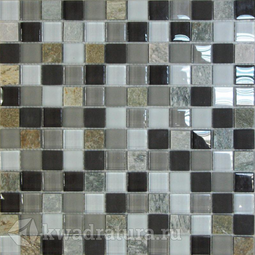 Мозаика стеклянная c камнем Bonaparte Style time-23 30х30