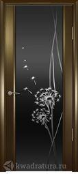 Межкомнатная дверь Океан Шторм3 СТ Тон Одуванчик венге
