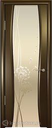 Межкомнатная дверь Океан Буревестник 2 СТ Бел Одуванчик венге