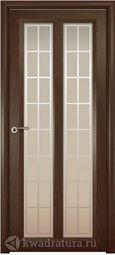 Межкомнатная дверь Океан Optima 5 СТ Бел Решетка дуб шоколад