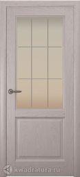 Межкомнатная дверь Океан Парма СТ Бел Решетка дуб серый
