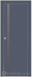 Межкомнатная дверь Профильдорс 6Е Антрацит алюминиевая кромка