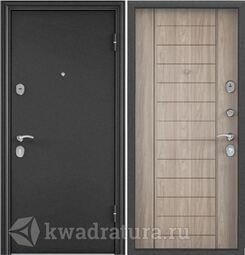 Дверь входная стальная Торэкс X5 Темно-серый букле графит/С6-9 Дуб серый евро