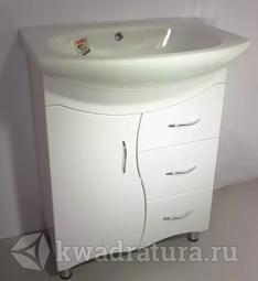 Мебель для ванной Sanita Лира 60 тумба с раковиной