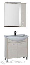 Набор мебель для ванной Aquanet Донна 80 беленый дуб